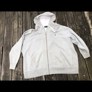 MENS POLO BY Ralph Lauren FULL ZIPP HOODIE SZ:5XB